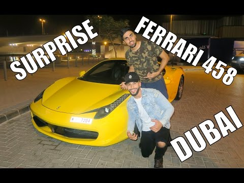 SURPRISED WITH A FERRARI IN DUBAI!!