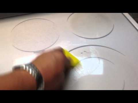 Cleaning + removing stains from a ceramic top stove oven