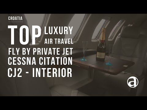 Private Jet |  Interior - Cessna Citation CJ2 | Private Jet Charter | Air Concierge antropoti