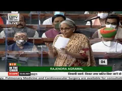 Smt. Nirmala Sitharaman's reply on the Finance Bill, 2021 in Lok Sabha: 23.03.2021