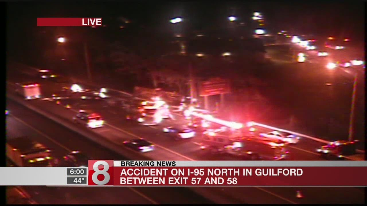 Accident on I-95 north in Guilford causing delays