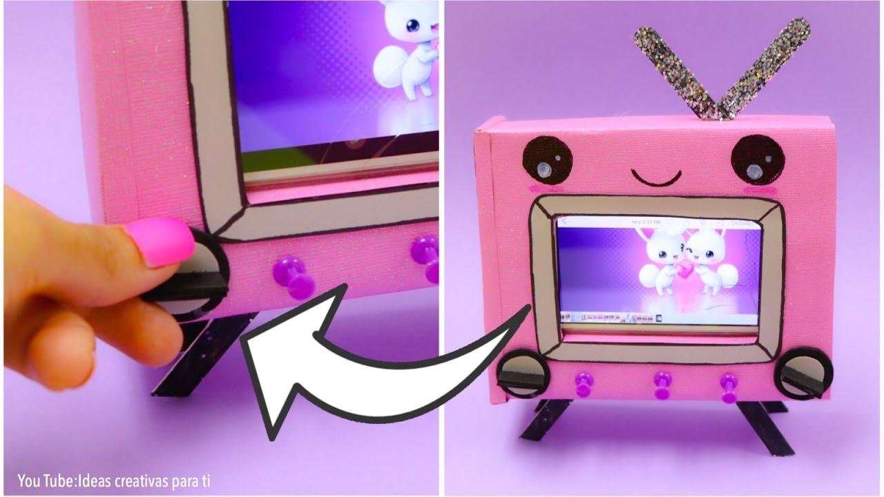 Mini televisor para celular manualidades faciles para - Manualidades en tela para regalar ...