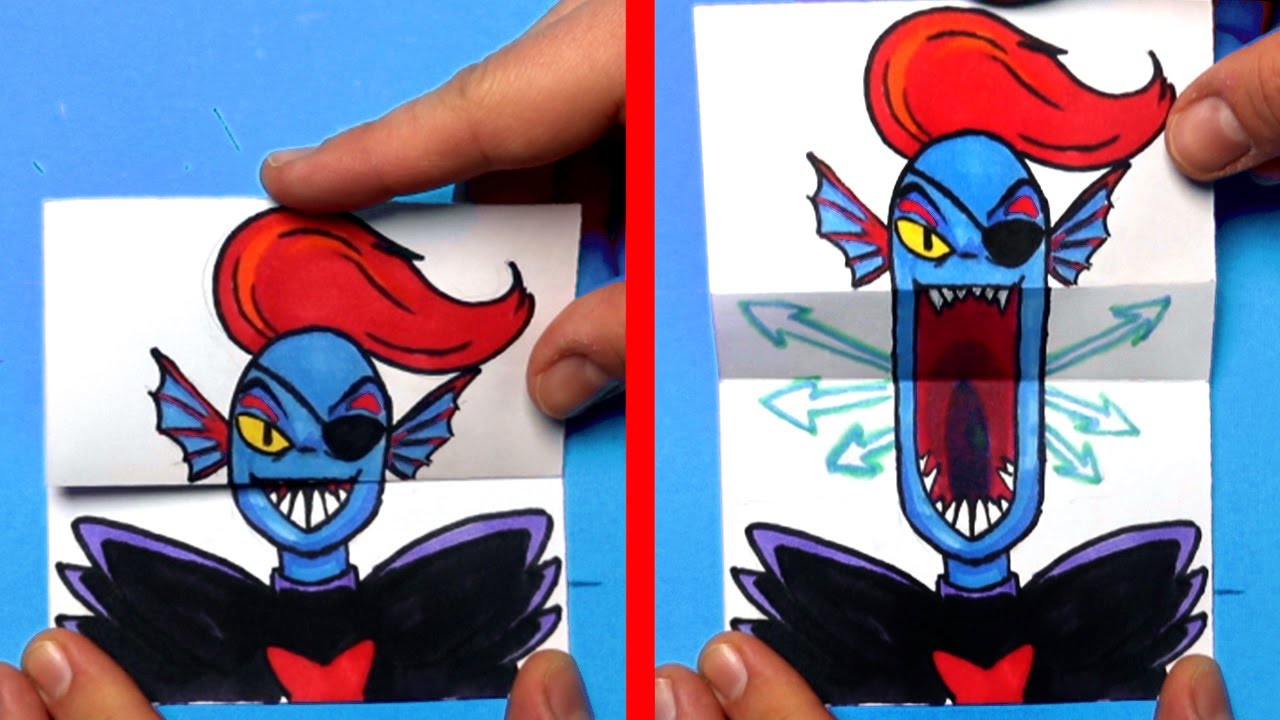 How to Draw an UNDYNE UNDERTALE SURPRISE FOLD #shorts