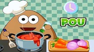 Juegos para Niños - Pou Intentando Cocinar