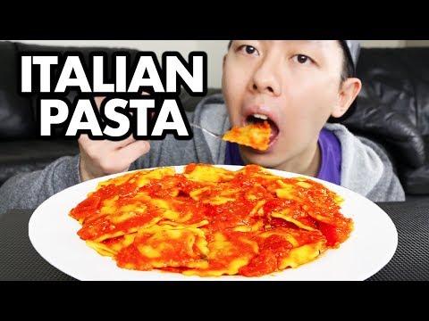 SPICY Cheese & Spinach RAVIOLI MUKBANG | Italian Pasta Mukbang + Eating Show