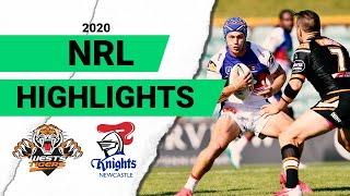 Wests Tigers v Knights Match Highlights | Round 2 NRL 2020