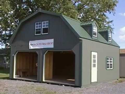 Video brochure 2 story doublewide garage youtube for Double story garage
