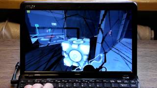 Portal 2 on MSI u270 with AMD E-350 HD 6310