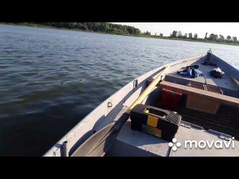 Ямаха 3 на тяжёлой лодке