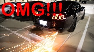 MUSTANG GT REVS and BLOWS UP CATALYTIC CONVERTER!!! (HE DOESN