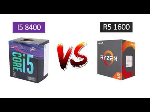i5 8400 vs Ryzen 5 1600 - GTX 1080 - Benchmarks Comparison