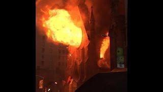 Impactante incendio en la catedral de Saint Sava de Nueva York