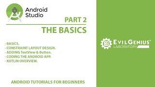 Android Studio Tutorial | The Basics | beginner | Tamil | Evil Genius Laboratory | EG | Part 2