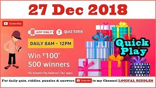 amazon daily quiz