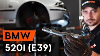 Cómo cambiar Rótula barra de dirección BMW 5 (E39) - vídeo gratis en línea