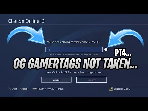Full Download] Og Gamertags Not Taken 2019 Part 4 Playstation Xbox