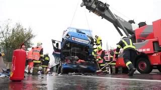 Zwei Tote bei Lkw-Unfall auf A9