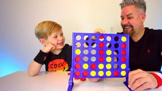 Connect Four Challenge! Kid friendly TV! Father and Son play connect 4.