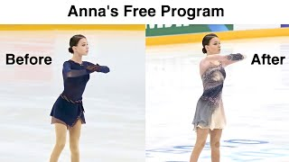 Anna Shcherbakova Free Program 5 Months Difference Анна Щербакова