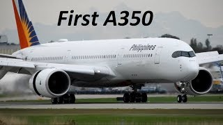**FIRST** A350 Philippines Airlines Landing at YVR