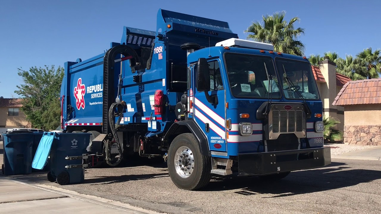 The Garbage Trucks of Las Vegas Nevada—Republic Services