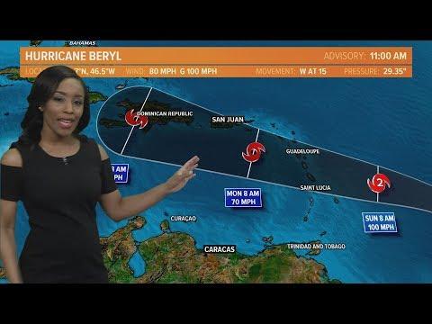 Tracking Hurricane Beryl: Outlook for July 6, 2018