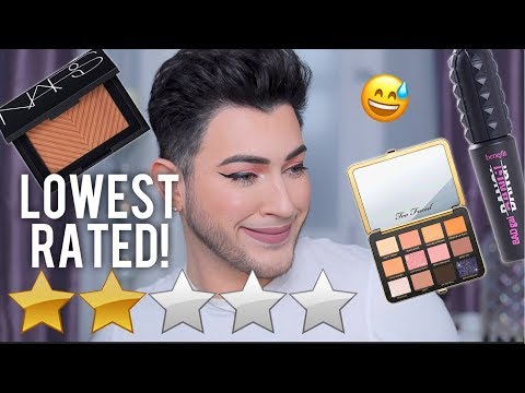 FULL FACE USING LOWEST RATED SEPHORA MAKEUP!
