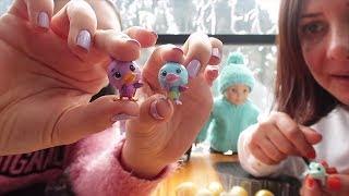Sürpriz Yumurta Kalplerinin Rengini Değiştirip Hatchimals İkiz Hayvanları Bulduk! Bidünya Oyuncak