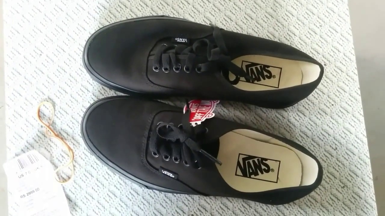 24202b6cf9 AUTHENTIC VANS BLACK  UNBOXING  - YouTube