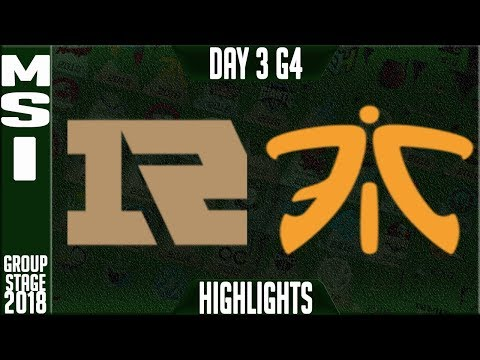 RNG vs FNC Highlights | MSI 2018 Day 3 Group Stage, Royal Ne