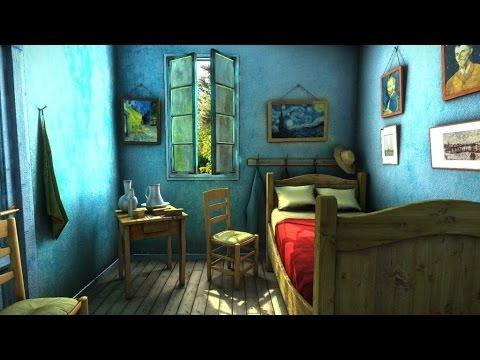 la chambre de van gogh video 360 youtube. Black Bedroom Furniture Sets. Home Design Ideas