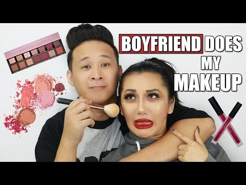 BOYFRIEND DOES MY MAKEUP TAG || xTHUYLE