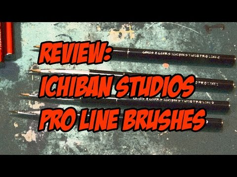 Review: Games & Gears, Ichiban Studio Pro Line paint brushes
