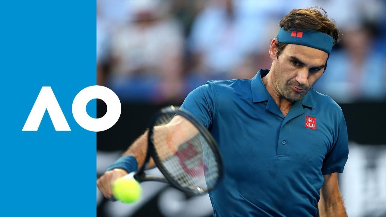 Roger Federer V Stefanos Tsitsipas First Set Highlights 4r Australian Open 2019 Youtube