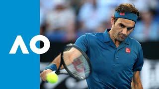 Roger Federer v Stefanos Tsitsipas first set highlights (4R) | Australian Open 2019