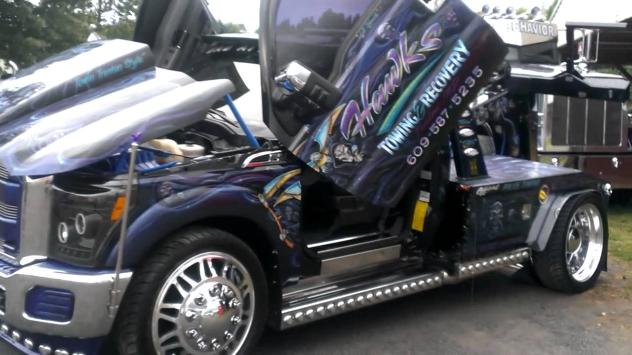 Tow Truck With Lambo Doors Youtube