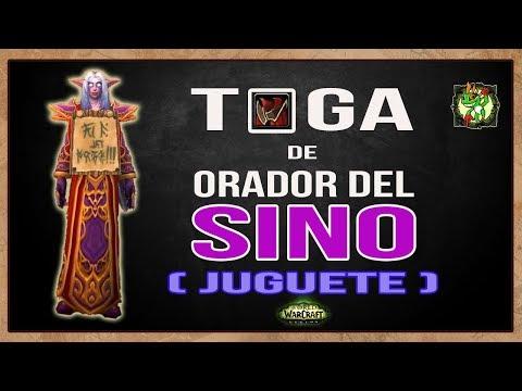 TOGA de ORADOR del SINO || Juguete || World of Warcraft
