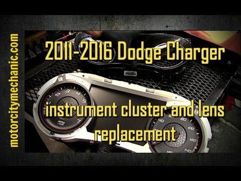 2011-2016 Dodge Charger instrument cluster and lens replacement
