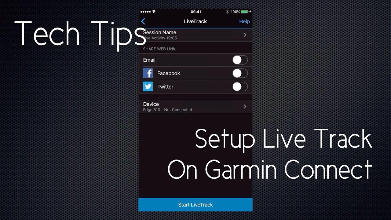 Set Up Live Track On Garmin Connect