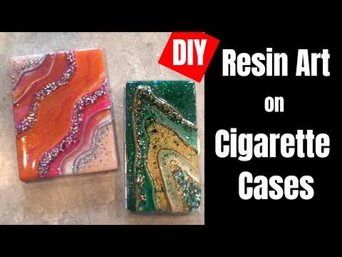 16. DIY Resin Art on Cigarette/Credit Card Cases