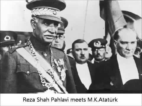 Reza shah Pahlavi speaks in Azeri-turkic with Ataturk