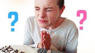 BABY GENDER REVEAL emotional 4 KIDS EAT GENDER REVEAL CAKE