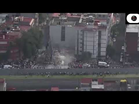 Drone footege___after earthquake __ mexico city