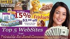 Printable Pet Food Coupons - Top 5 Places To Get Pet Food Coupons Online!