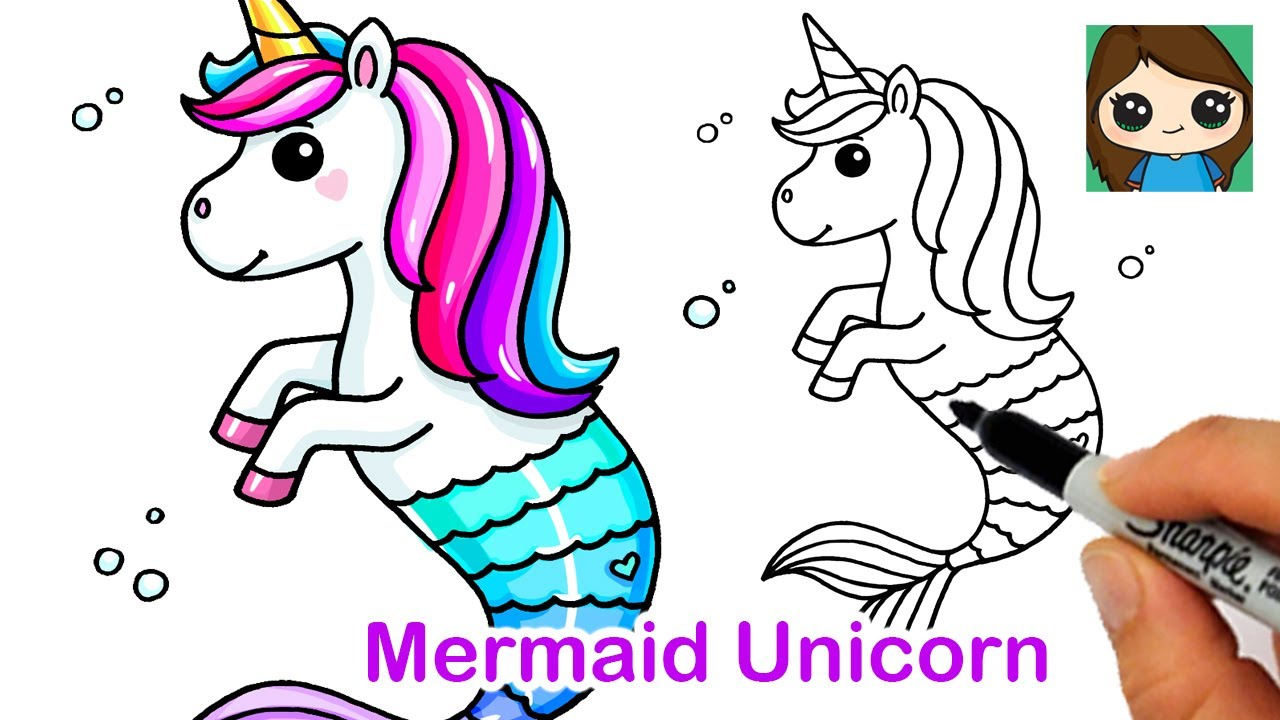 How to Draw a Mermaid Unicorn 🧜🏻‍♀️🦄 Mermicorn