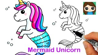 How to Draw a Mermaid Unicorn  Mermicorn