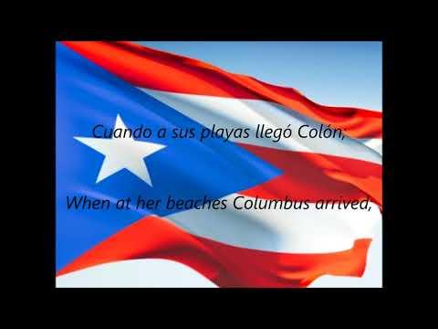 """Puerto Rican National Anthems - """"La Borinqueña"""" (ES/EN)"""