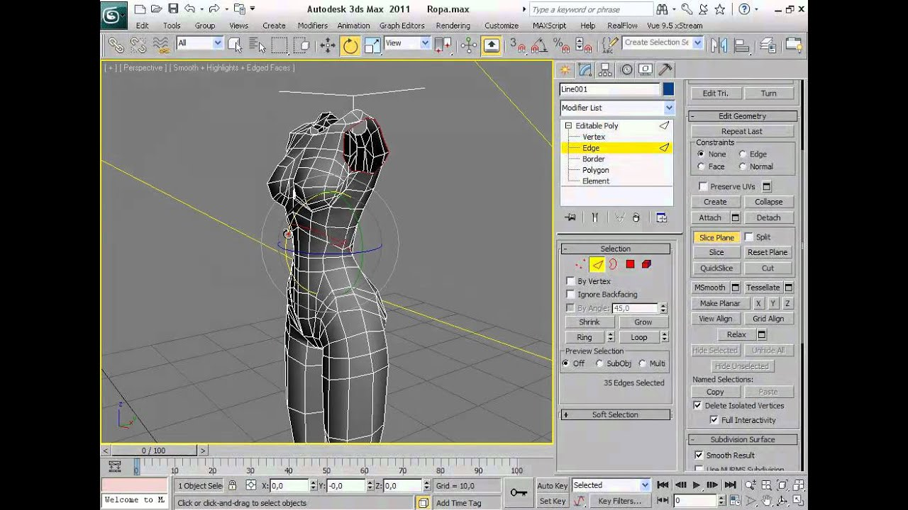 Tutorial crear ropa en 3d studio max youtube for Programa para dibujar en 3d