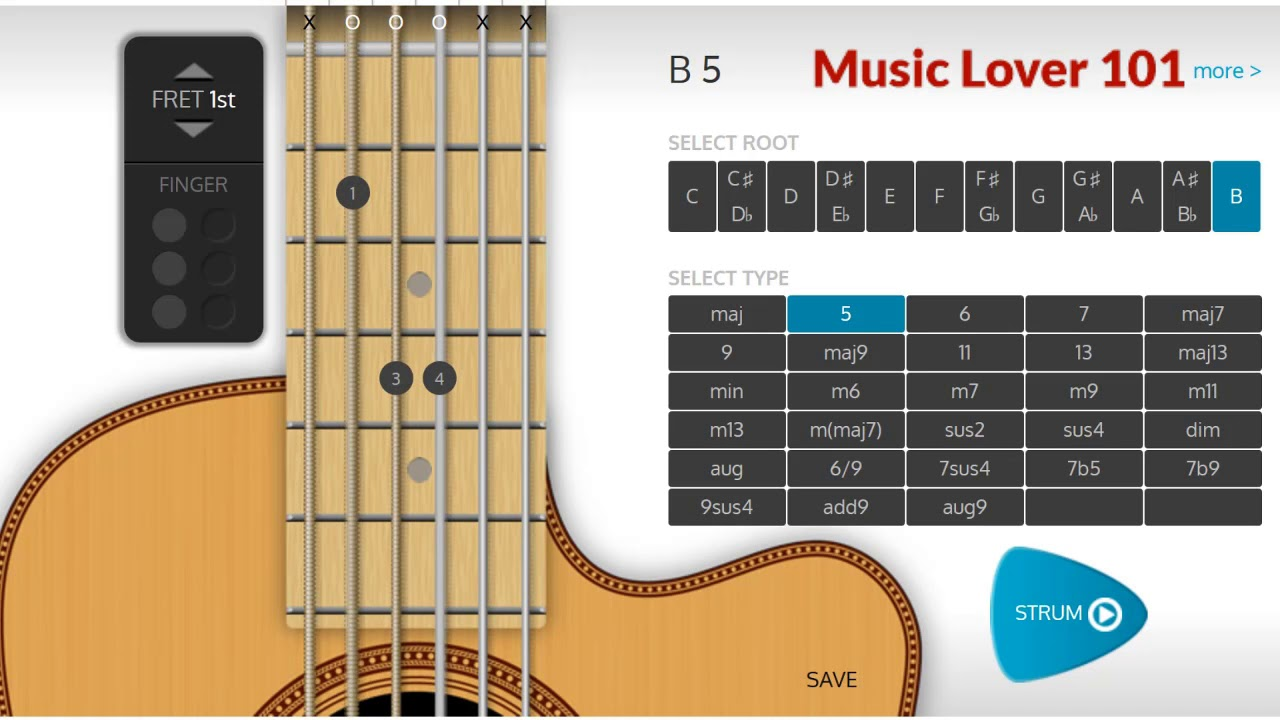 B5 Chord Guitar Youtube
