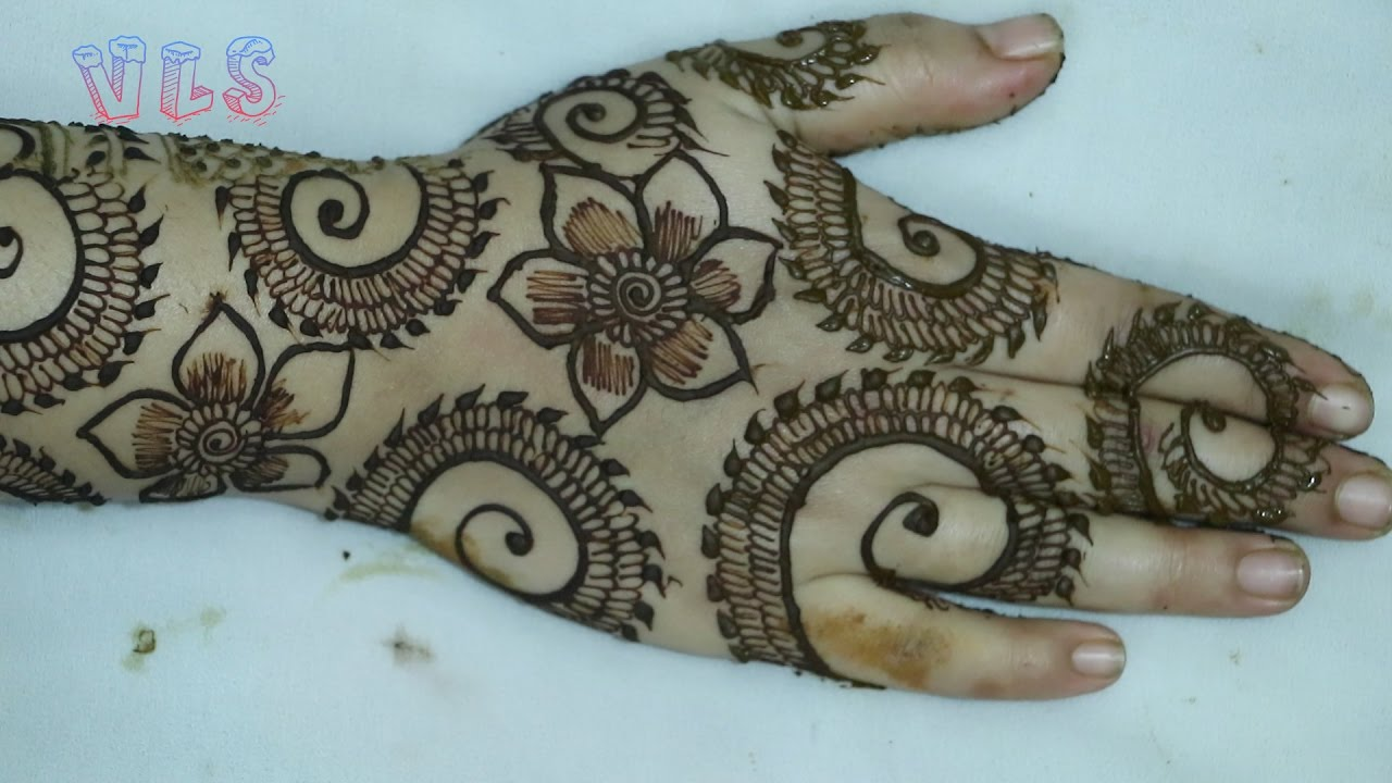 Flower Mehndi Designs For Back Hands : Flower mehndi design back hand viral
